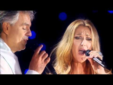 "Music video Céline Dion Andrea Bocelli The Prayer (Theme from ""Quest For Camelot""). (C) 1998 Sony Music Entertainment Canada Inc.Céline Dion & Andrea Bocelli..."