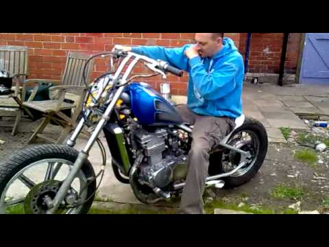 kawasaki en 500 vulcan chopper youtube. Black Bedroom Furniture Sets. Home Design Ideas