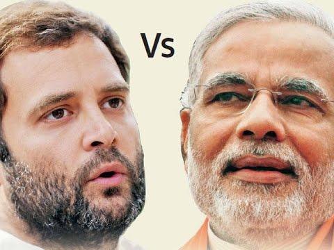 Face-off : Prime MInister Narendra Modi V/s Rahul Gandhi