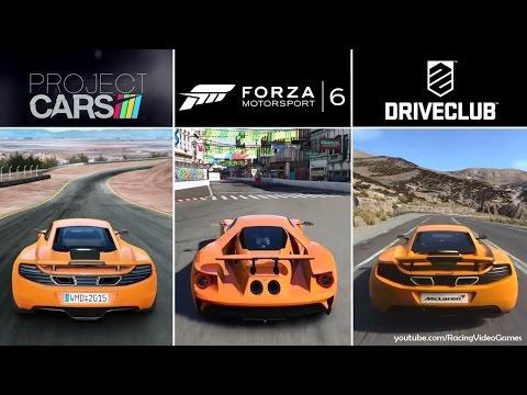 Forza 6 vs. DriveClub vs. Project CARS | Graphics, Rain & Weather Gameplay Comparison (PS4 & Xbox)