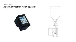 How to Refill HP 61 61XL Black Ink Cartridge - Auto Convection Refill