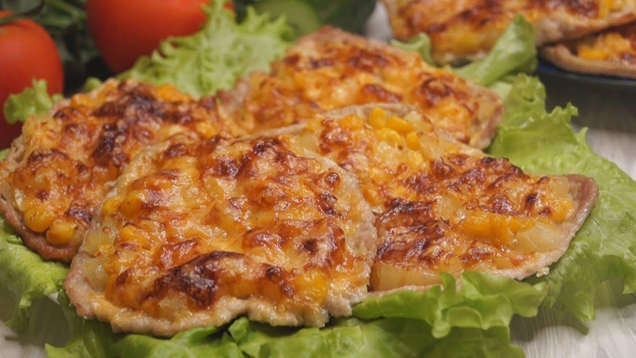 Говядина с сыром и ананасом рецепт