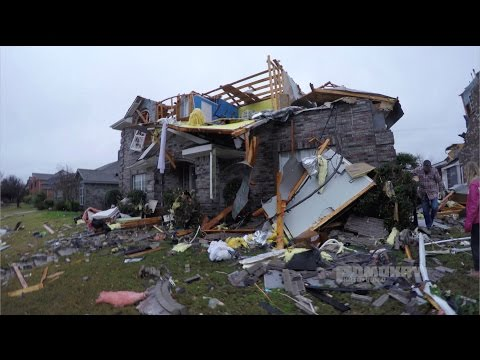4K Rowlett Tornado Damage - Dec 26, 2015