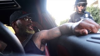 MY FRIEND GETS PULLED OVER DRIVING MY HELLCAT! *HE SNITCHED ON ME*