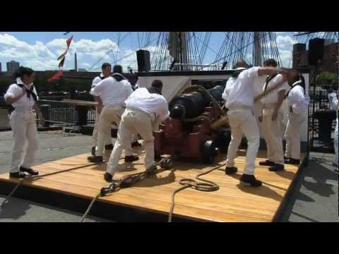 USS Constitution Boarding Pike and Gun Drills