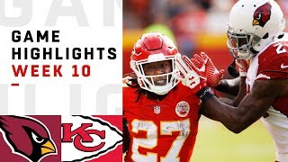 Cardinals vs Chiefs Week 10 Highlights | NFL 2018