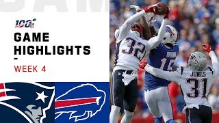 Patriots vs. Bills Week 4 Highlights | NFL 2019