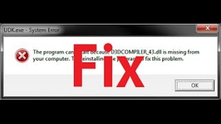 How to fix D3DCompiler_43.dll Not Found or Missing Errors All PC Games!!!