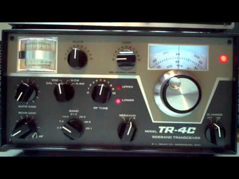 Drake TR-4C Tuning Up - Ham Radio