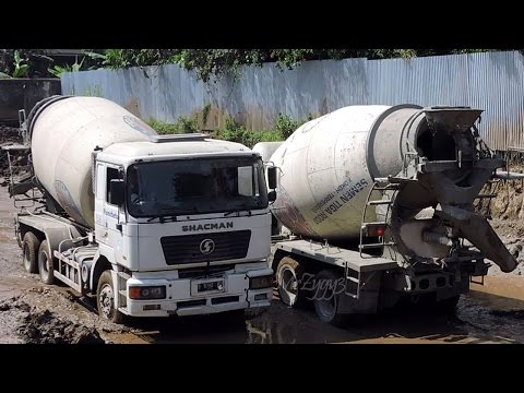 Concrete Mixer Trucks Working