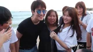 AoMike w/ FC on the beach @ Yak Lak Yim 2016.09.03