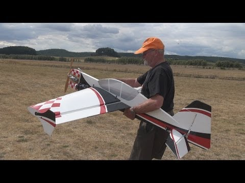 Maiden flight. 20cc Yak 54 profile RC plane