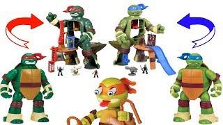 Teenage Mutant Ninja Turtles TMNT Micro Mutants Leonard Playset