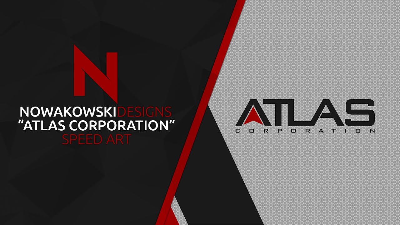 Atlas Corporation Wallpaper Photoshop Speed Art Atlas
