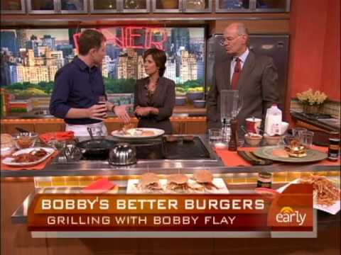 Bobby Flay's Breakfast Burgers - YouTube