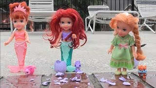 Princess Story: Little Mermaid Ariel, Mermaid Athena, Frozen Anna and Elsa Play Time with Hatchimals