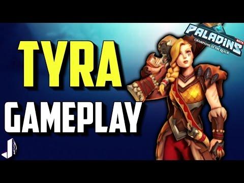 Paladins New Champion Tyra Gameplay (5v5 Susbcriber Game)