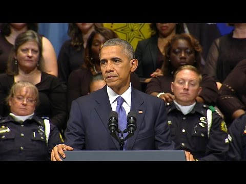 President Obama speaks at Dallas police memorial service