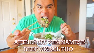 How to Make VIETNAMESE OXTAIL PHO | AUTHENTIC RECIPE | MUKBANG