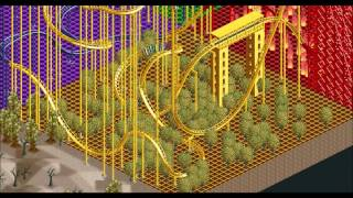 My OpenRCT2 Park - Challenger | CUBE (twister coaster)