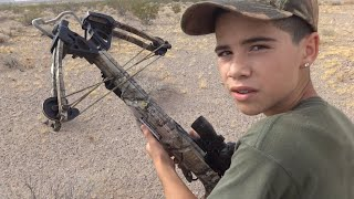 Rabbit Hunt: 10 Point Crossbow demonstration and kill with Varmint Tips