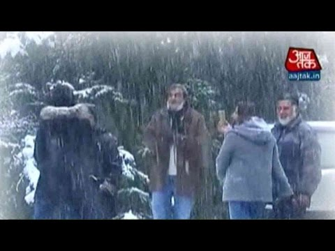 Season`s First Snowfall In Kashmir