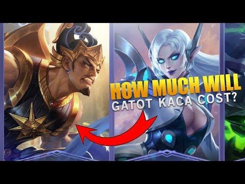 Mobile Legends New Hero Gatot Kaca Price / Cost