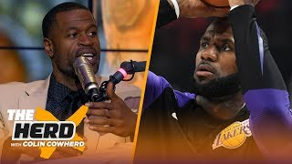 Stephen Jackson on LeBron's Lakers debut, Lonzo 'big piece' in trade for shooters   NBA   THE HERD