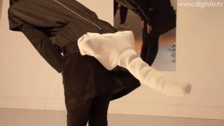 SiliFulin : A Robot Tail that Moves in Reaction to Human Movement : DigInfo