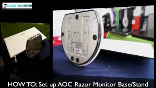 HOW TO_  Set up AOC Razor Monitor Base/Stand HD - AlansTechReport