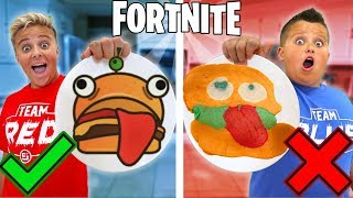 FORTNITE Pancake Art Challenge!!