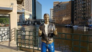 Milwaukee's River Walk! The Fonz! The Pfister Hotel