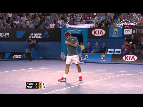 Roger Federer Vs Andy Murray Australian Open 2014 2 Set/Second Set 720 HD