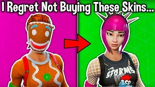 5 SKINS I REGRET NOT BUYING in Fortnite! (you want these skins)