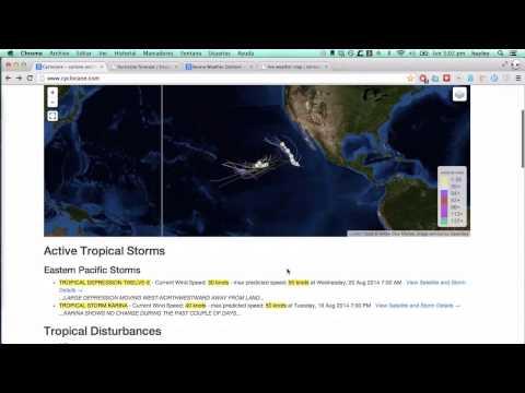 18 de agosto - Tormentas Tropicales Karina & Lowell, tiempo severo