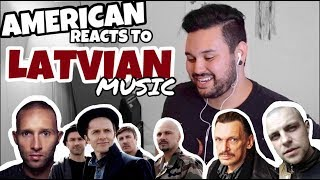 American REACTS // Latvian Music