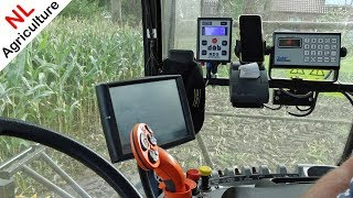Cab View - New Holland FR600 - Mais hakselen 2018 - Case IH Puma 230 CVX - Valtra T254 - NAP.