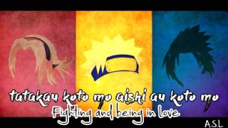 Naruto Opening 1: ROCKS - Hound Dog (English + Romanized lyrics)