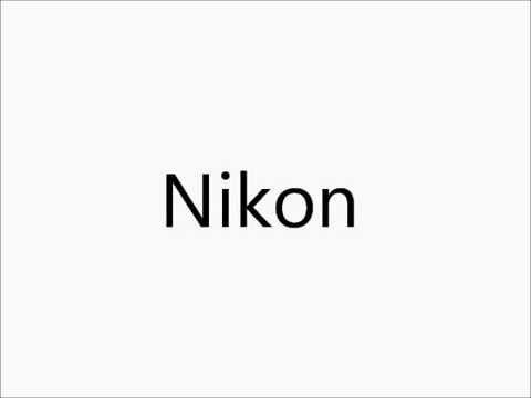 How To Pronounce Nikon Youtube
