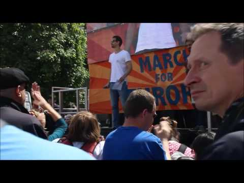 Human Rights Lawyer at #marchforeurope after Brexit EU referendum vote