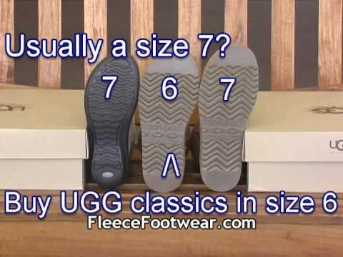 UGG Australia Classic Collection Sizing Tips – FleeceFootwear.com