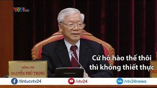 Tổng Bí thư, Chủ tịch nước Nguyễn Phú Trọng phát biểu khai mạc Hội nghị Trung ương 10, khóa XII