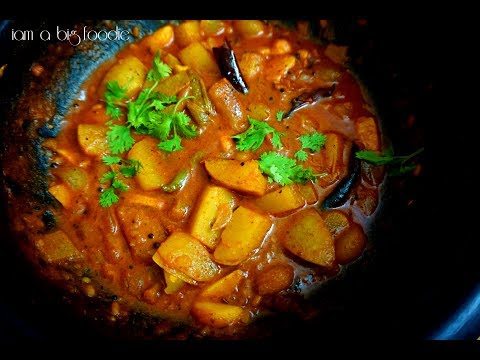 Village style potato garlic curry.!