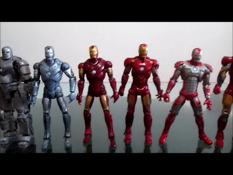 Iron Man Review Figuras de Accion de las peliculas Mark 1 al 6