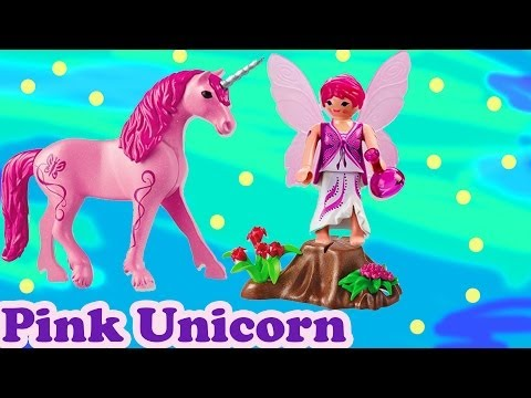 Pink Unicorn Fairy Fantasy Playmobil Playset Pack Bag Toy Review Opening
