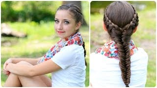 ලස්සන වෙන්න ලස්සන ක්රමයක්The Laced Fishtail Braid | Cute Girls Hairstyles