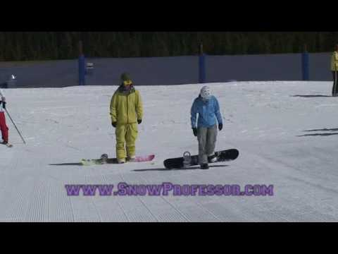 z How to Snowboard - Step 1 - Skating and Stepping