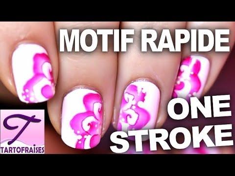 Nail art one stroke fleur abstraite sur ongles courts pour - Vernis a ongle original et facile a faire ...