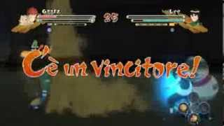 COMBATTIMENTI EPICI=GARA VS ROCK LEE:naruto ultimate ninja storm 3