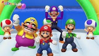 Super Mario Party   All Co-op Minigames With Mario, Wario, Luigi and Waluigi   ZigZag Kids HD
